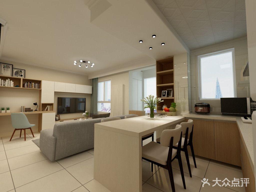 50平米露台现代简约公寓风格设计图建房效果图v露台厨房图片