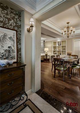 130平米三室两厅美式风格玄关图