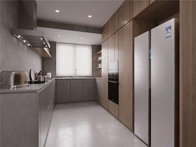 140平米三室三厅北欧风格厨房图片