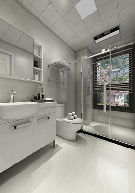 110平米三室两厅中式风格卫生间装修案例