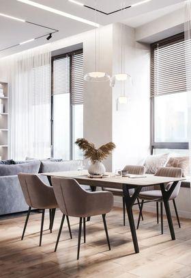 100平米三室兩廳現代簡約風格餐廳裝修效果圖
