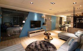 10-15万130平米三室两厅现代简约风格客厅欣赏图