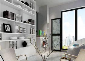 80平米现代简约风格书房橱柜效果图