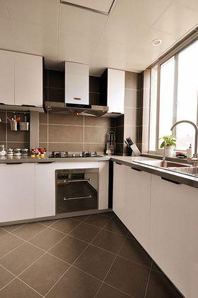豪华型110平米三室两厅现代简约风格厨房欣赏图