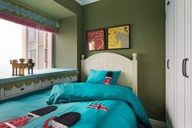80平米三室一廳混搭風格兒童房裝修效果圖
