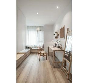 90平米三室兩廳日式風格臥室圖