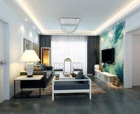 90平米混搭风格客厅设计图