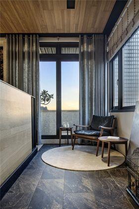 130平米三室一厅中式风格阳光房欣赏图