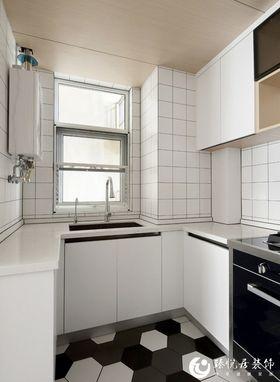 90平米三室一厅日式风格厨房设计图