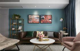 120平米三室兩廳現代簡約風格客廳效果圖