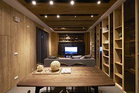 90平米三室一厅法式风格书房图