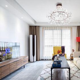 120平米公寓北欧风格客厅图