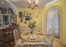 120平米三室一厅地中海风格餐厅欣赏图