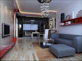 经济型80平米现代简约风格客厅装修效果图