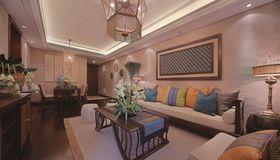 80平米三东南亚风格客厅设计图