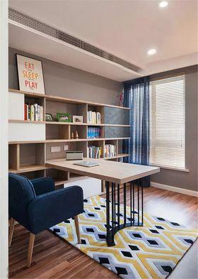 90平米三室一厅宜家风格书房效果图