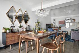 90平米三室一厅美式风格餐厅图片大全
