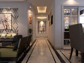 110平米三室一厅现代简约风格玄关图片