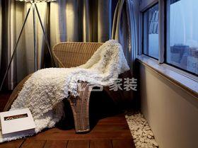 富裕型120平米三室一厅现代简约风格阳台设计图