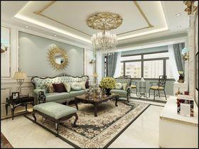 130平米三法式风格客厅欣赏图