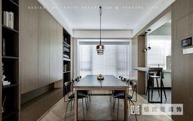 130平米四室两厅现代简约风格餐厅图片