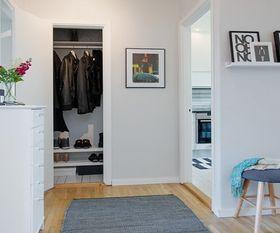 3-5万50平米一室一厅北欧风格衣帽间装修案例