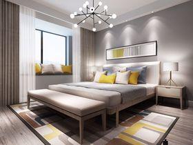 140平米别墅北欧风格卧室设计图