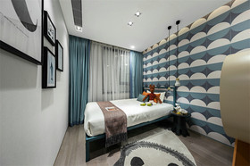140平米复式现代简约风格卧室欣赏图