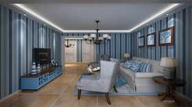 90平米地中海风格客厅装修图片大全