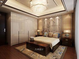 富裕型140平米复式中式风格卧室装修案例