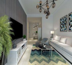 5-10万80平米现代简约风格客厅效果图