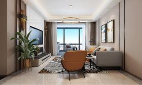 110平米現代簡約風格客廳設計圖