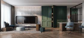 100平米三室兩廳現代簡約風格客廳圖