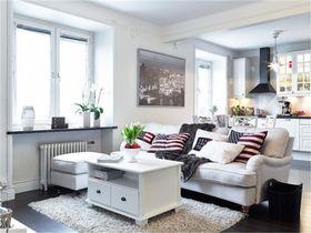 60平米公寓北欧风格客厅装修图片大全