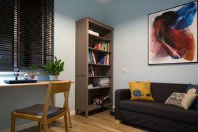 80平米三室一厅混搭风格书房设计图