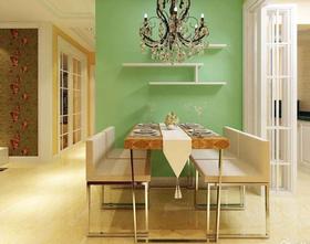 富裕型100平米现代简约风格餐厅装修图片大全