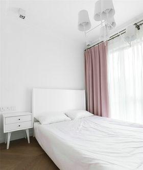 80平米三室两厅北欧风格卧室图