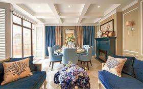 140平米三室两厅英伦风格餐厅图片大全