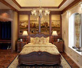豪华型140平米三室三厅美式风格卧室图片