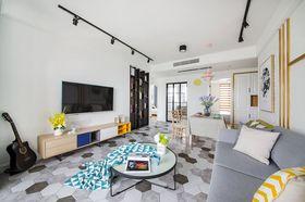 80平米現代簡約風格客廳圖片