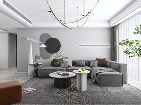 120平米三室一廳現代簡約風格客廳效果圖