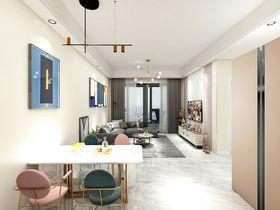 90平米三室两厅现代简约风格餐厅效果图