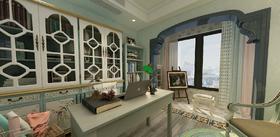 120平米三地中海风格卧室设计图