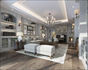 140平米三室两厅美式风格客厅图