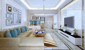经济型140平米复式现代简约风格阁楼设计图