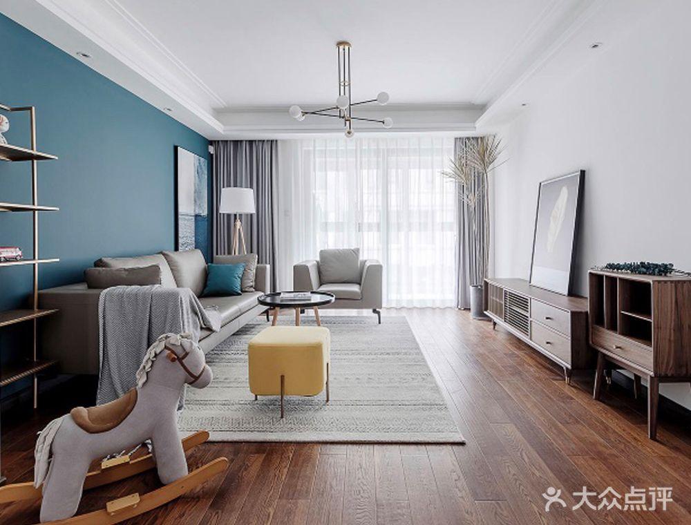 120平米四室两厅混搭风格客厅效果图