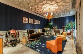 140平米复式英伦风格客厅装修图片大全