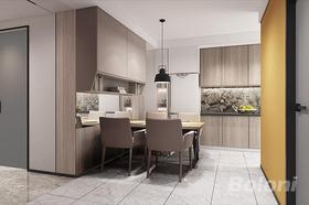 60平米现代简约风格餐厅设计图