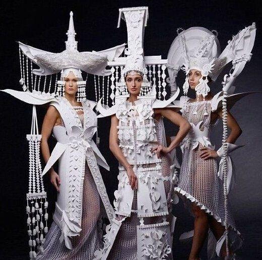 Asya Kozina白纸婚纱礼服 震撼的不仅仅是眼睛