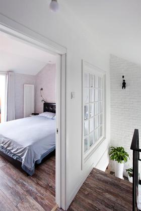 富裕型60平米复式混搭风格卧室图